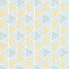 Amaya from the Caselio Acapulco collection, shown here in blue, green and yellow. Wallpaper Online, Wallpaper Samples, Wall Wallpaper, Geometric Wallpaper, Designer Wallpaper, Colours, Yellow, Green, Baby