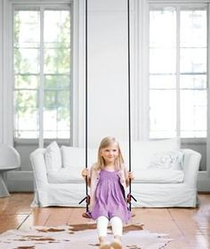 If I put an indoor swing in the kids playroom I will be the BEST mom ever! Indoor swing from ikea.