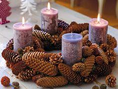 Adventskranz basteln - stimmungsvolle Ideen zum Selbermachen