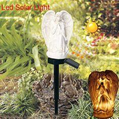 Simple Angel Solar Lights for Garden Decoration Waterproof LED Solar Lamps Landscape Lawn Light Solar Yard Lights, Lawn Lights, Solar Powered Lights, Solar Lamp, Color Changing Led, Diy Kits, Outdoor Lighting, Simple, Garden