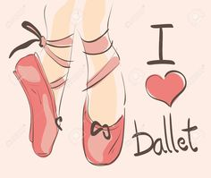 Resultado de imagen para Como Dibujar Unas Zapatillas De Punta De Ballet.