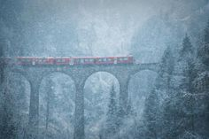 Blizzard in the Swiss mountains Photo by Julia Wimmerlin
