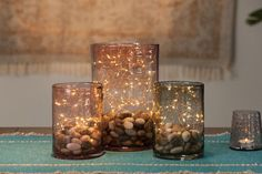 Set your fall table with this Easy DIY Centerpiece idea by Real Simple editor Stephanie Sisco. Diy Simple, Real Simple, Easy Diy, Lighted Centerpieces, Simple Centerpieces, Centerpiece Ideas, Fall Table, Deco Table, Autumn Home