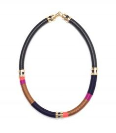 Lizzie Fortunato Pink Metallic Double Take Necklace - Exotic patterned and printed accessories to inspire a stylish wanderlust. http://shop.harpersbazaar.com/in-the-magazine/pattern-play
