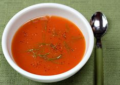 Tomato, orange, and fennel soup... Grown up spin on childhood comfort food