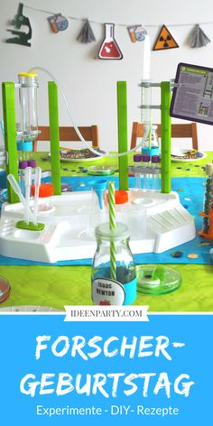 Make a researcher& birthday! That was really one of our best Kinderg . Make a researcher& birthday! That was really one of our best children& birthdays. Mint Party, Under The Sea, Birthday Invitations, Party Time, Children, Kids, Kindergarten, Birthdays, How To Make