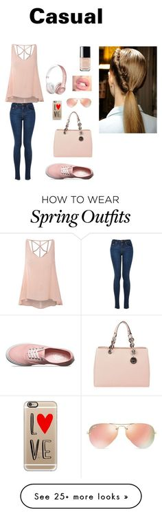"""""""Casual Outfit"""" by manahil21 on Polyvore featuring Glamorous, Vans, MICHAEL Michael Kors, Casetify, Ray-Ban, Chanel, women's clothing, women, female and woman"""