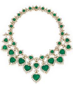 18 Karat Gold, Emerald and Diamond Necklace, Van Cleef & Arpels | lot | Sotheby's