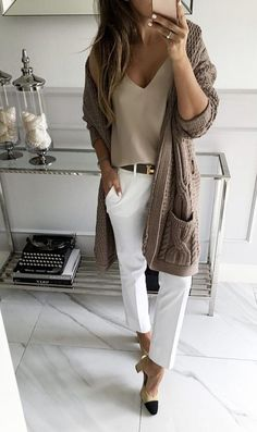 style tips for wearing maxi cardigan - RG OWN by Lu K Vilar - Work Outfits Women Chic Summer Outfits, Casual Work Outfits, Professional Outfits, Mode Outfits, Fashion Outfits, Womens Fashion, Business Casual Outfits For Women, Fashion Fashion, Fashion Models