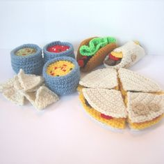 Crocheted Mexican Food by craftyanna, via Flickr