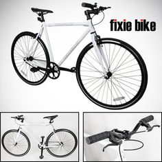 Special Offers - NEW 54cm White Fixed Gear Bike Single Speed Riser Bar Fixie Road Bike Track Bicycle - In stock & Free Shipping. You can save more money! Check It (March 25 2016 at 09:02AM) >> http://bmxbikeusa.net/new-54cm-white-fixed-gear-bike-single-speed-riser-bar-fixie-road-bike-track-bicycle/