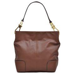 e77a79f40bc5 Anais Gvani Bags Classic Brown Leather Hobo Bag