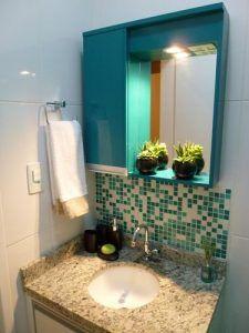 Pastilhas de vidro no banheiro thomas barros