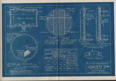 Plan for Underground Concrete Tank (c. 1920)