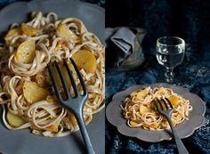 Pasta con patate e porri