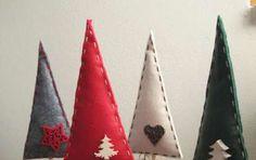 Decorazioni natalizie fai da te - Alberelli fai da te in feltro Christmas Crafts, Xmas, Diy Crafts, Ornaments, Fun, Home Decor, Winter, Proposal, Art