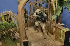 """""""Kock and Talk"""" 120mm scale (1/16 scale). By Steven Zuleski. US 10th Mtn Div, Afghanistan. #diorama #vignette #figure_model http://www.network54.com/Forum/110741/thread/1316482634/%26quot%3BKnock+and+Talk%26quot%3B+10th+Mtn+Div%2C+Afghanistan"""