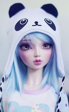 bjd So kawaii😆🐼 Manga Kawaii, Kawaii Doll, Kawaii Anime Girl, Anime Art Girl, Panda Anime Girl, Manga Anime, Anime Dolls, Bjd Dolls, Pretty Dolls