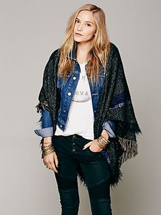 Free People Wester Shawl