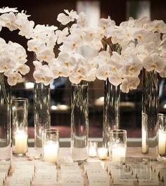 White Orchid Wedding Centerpieces #wedding #centerpiece | Photography: Christian Oth Studio