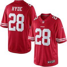 Men s San Francisco 49ers Carlos Hyde Nike Scarlet Limited Jersey 1692cb743