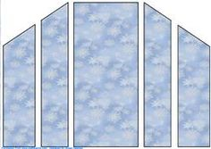 Blue and White Snowflake Theatre Card Base on Craftsuprint - View Now!