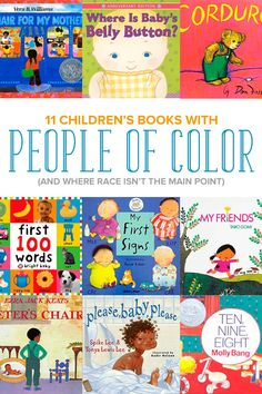 These 11 children's books include people of color (and where the focus of the book isn't about race or ethnicity). Best Toddler Books, Best Children Books, Childrens Books, Teaching Kids, Kids Learning, Kids Library, Library Books, Book People, Preschool Books