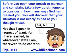 Complaining and Murmuring Graphic 05 - http://www.billkochman.com/Blog/2016/09/02/complaining-and-murmuring-graphic-05/