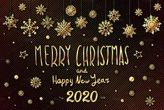 gold Merry Christmas and Happy New Year 2020 year snowflakes lettering design. Vector illustration Zip file contains editable 10 EPS 1 vector files and 1 Merry Christmas Images, Merry Christmas And Happy New Year, Snowflake Designs, Happy New Year 2020, Lettering Design, Beautiful Gardens, Snowflakes, The Creator, Creative
