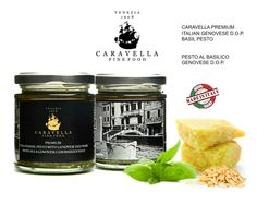Premium Italian Genovese D.O.P. Basil pesto -  Pesto genovese con basilico DOP 180 gr Caravella Fine Food visit us for more delicious food on www.caravellafinefood.com