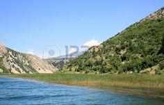 Zrmanja river, sailing towards the sea from Obrovac, Croatia