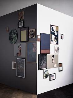 gallery wall on a corner