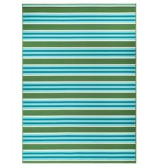 IKEA - SOMMAR 2020 Rug flatwoven, in/outdoor striped/green/white Outdoor Flooring, Outdoor Rugs, Outdoor Blanket, Outdoor Living, Ikea Rug, Ikea Family, Plate, Wooden Decks, Rugs