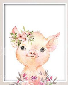 Nursery Art, Girl Nursery, Nursery Prints, Farm Animal Nursery, Nursery Paintings, Nursery Wall Decor, Ostern Wallpaper, Farm Animals, Safari