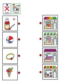 ¿Donde compro cada producto? Asociación de conceptos