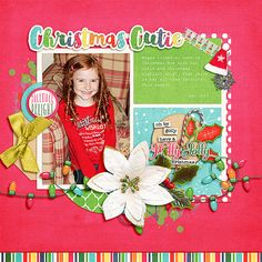 Digital Scrapbook Page by Kayla | Oh What Fun by Bella Gypsy Designs