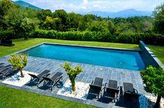 Rénovation réussie d'une piscine en béton