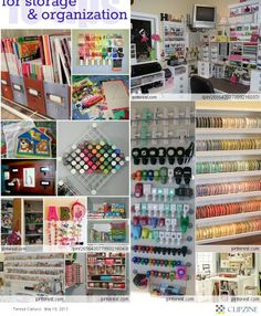 Craft/Scrapbook Rooms - using the wall space