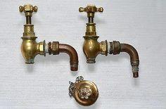 Pair of Vintage Brass Globe Bath Taps | eBay