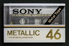 SONY/METALLIC/パッケージ Casette Tapes, Vhs Cassette, Sony Design, Sony Electronics, Metal Tape, Tape Recorder, Retro Futurism, Audio Equipment, Audiophile
