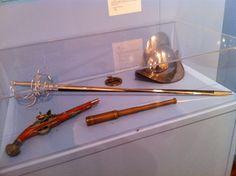 Reproduction Spyglass, Flintlock pistol and Rapier, Mathers Museum, Indiana University