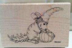 "New House Mouse ""Carrot Costume""  #Stampendous http://www.ebay.com/itm/262584694524?ssPageName=STRK:MESELX:IT&_trksid=p3984.m1555.l2649 #cardmaking #creativity #papercraft #scrapbooking"