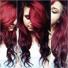 When I grow my hair back out, I want this burgandy ombre