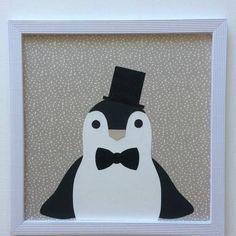 Tableau pingouin pour décoration chambre enfant bébé
