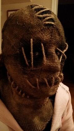 Cheeseweasel's Homemade Burlap Mask from Halloween Forum.  Creepy!