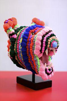 Troy Emery: pom pom sculpture
