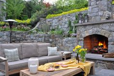 Walls with planting beds imbedded - Suburban DC - Cahill Residence traditional patio