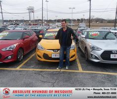 #HappyAnniversary to Albert Whitehead on your 2013 #Hyundai #Veloster from Michalak Gerald at Absolute Hyundai!