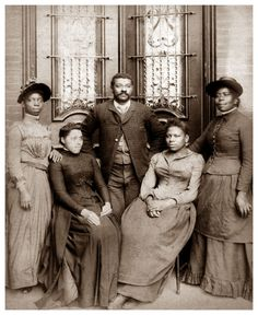 FAMILY MATTERS | THE BLACK VICTORIANS  ------------------------  Name unknown. Circa 1880's. Robert D. Farber University Archives & Special Collections Department, Brandeis University.