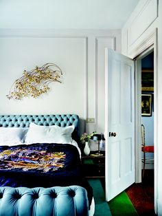 seriously considering this tufted bed via: lifestyle